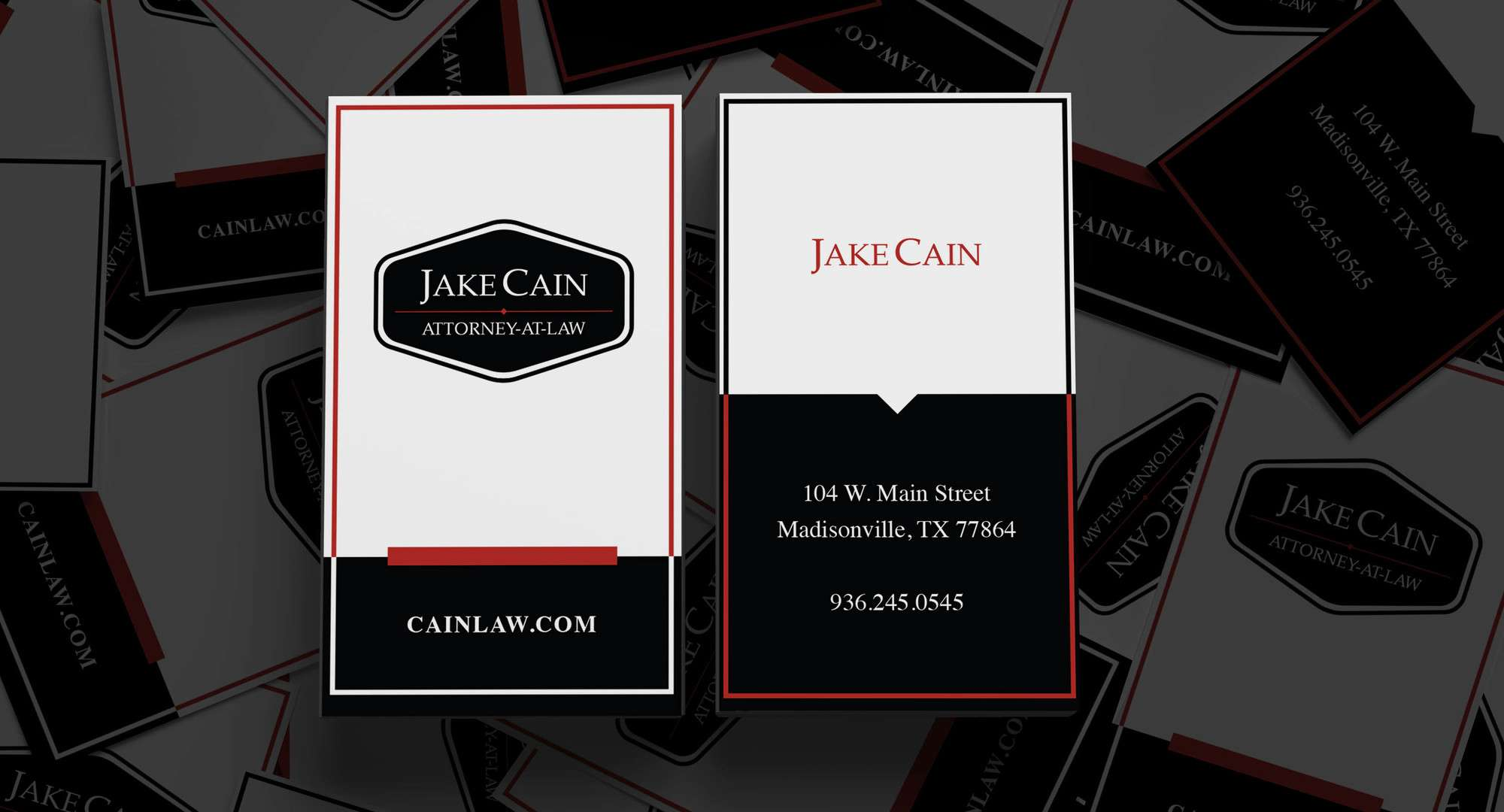 Jake Cain Business Card and branding by Marketography